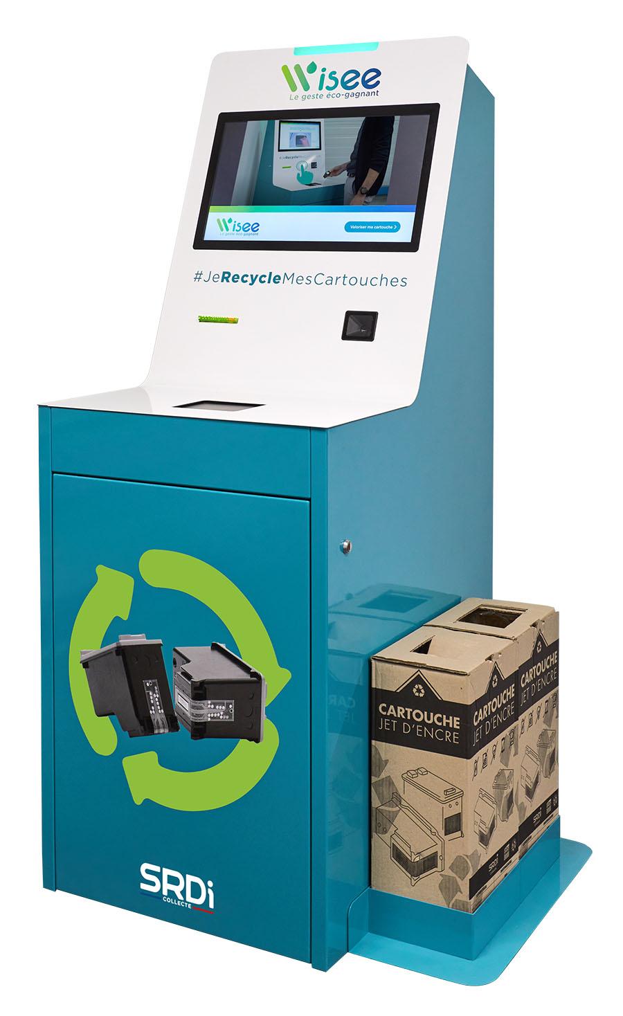 Borne connectée de recyclage de cartouche d'encre