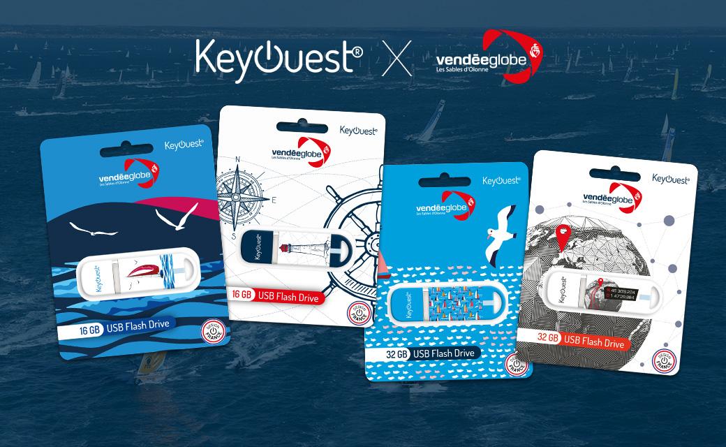 Nouvelle collection de clés USB KeyOuest aux couleurs du Vendée Globe