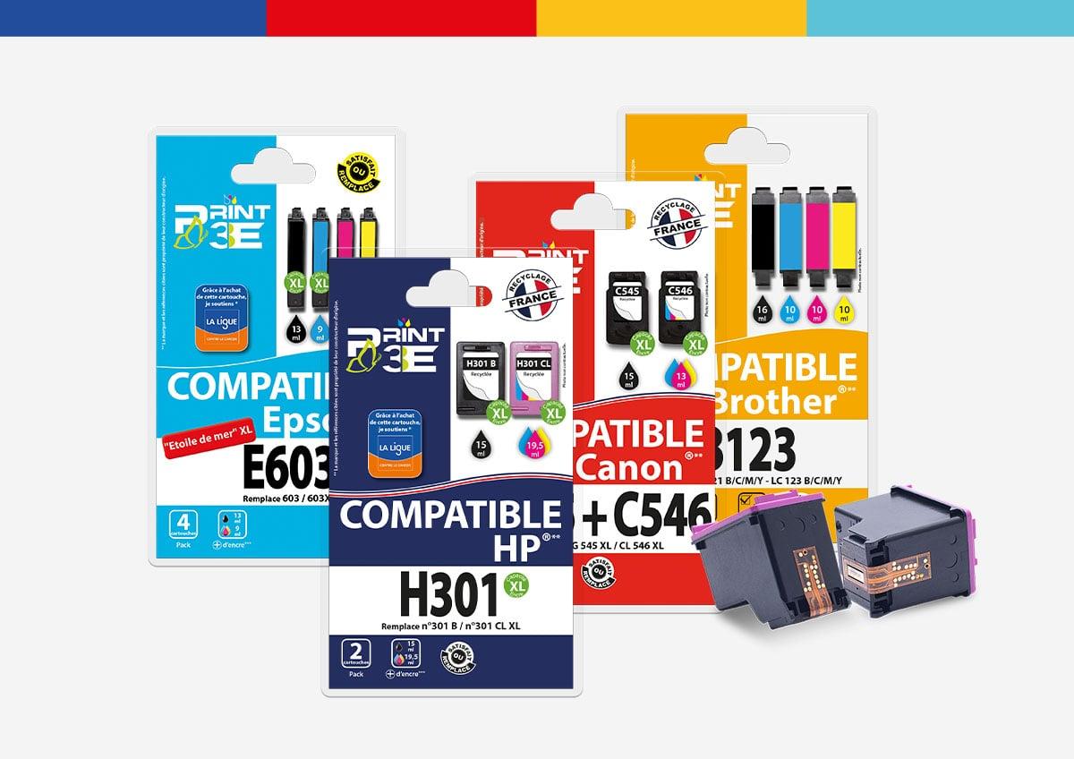 Print3E Gamme d'encre compatible recyclage France - SRDi